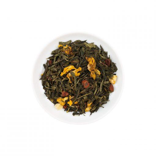 Wurzelsepp-Gruener-Tee-Aromatisierter-Gruentee-Fruechtemischung-Kaktusfeige-Mangostane-lose