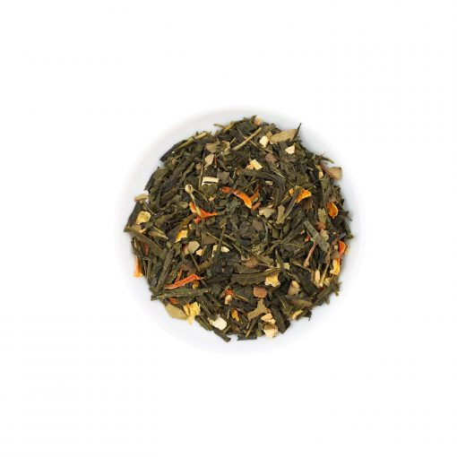 Wurzelsepp-Gruener-Tee-Gewuerzmischung-Ingwer Limette-Bio-Lose