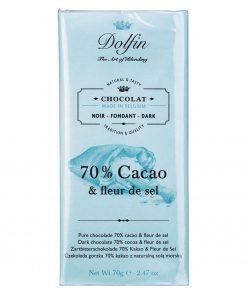 Dolfin Zartbitterschokolade mit Fleur de Sel 70 Kakao Wurzelsepp V8030 574 18