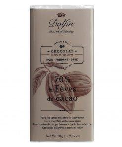 Dolfin Zartbitterschokolade mit Kakaosplittern Wurzelsepp 6550 134 14