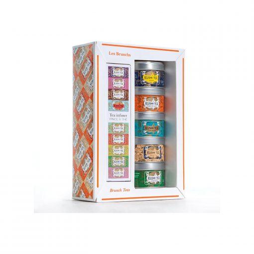 Kusmi Tea Brunch Tees Geschenkset mit 5 Miniaturdosen à 25g Wurzelsepp