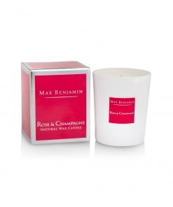 Max Benjamin Classic Collection Rose & Champagne Candle and Box Wurzelsepp