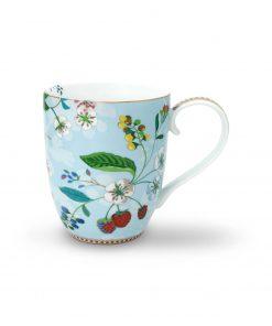 PIP Studio Floral Becher XL Hummingbirds blau Wurzelsepp