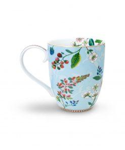 PIP Studio Floral Becher XL Hummingbirds blau back Wurzelsepp