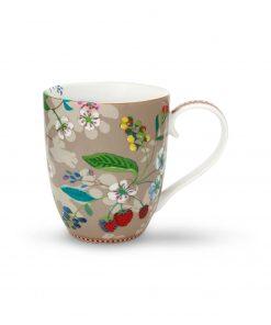 PIP Studio Floral Becher XL Hummingbirds khaki Wurzelsepp
