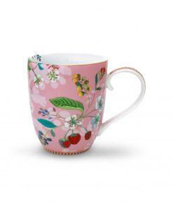 PIP Studio Floral-Becher XL Hummingbirds rosa Wurzelsepp