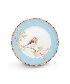 PIP Studio Floral Frühstücksteller Early Bird blau Wurzelsepp