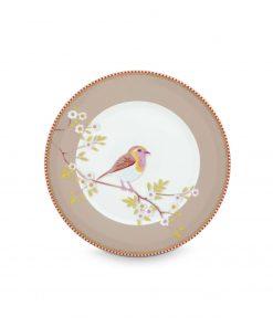 PIP Studio Floral Frühstücksteller Early Bird khaki Wurzelsepp