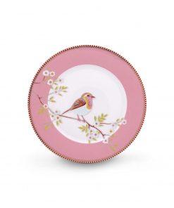 PIP Studio Floral Frühstücksteller Early Bird rosa Wurzelsepp