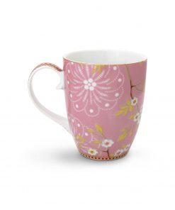 PIP Studio Floral Tasse Early bird rosa back Wurzelsepp