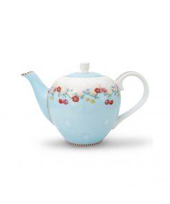 PIP Studio Floral Teekanne small Cherry blau Wurzelsepp