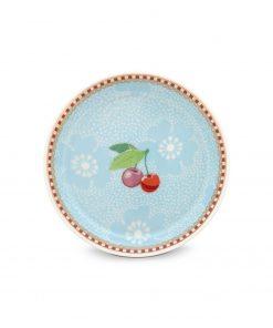 PIP Studio Floral Teeteller dotted flower blau Wurzelsepp