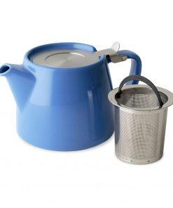 FORLIFE Théière Stump 0,55L bleue avec filtre infuser Wurzelsepp 309BLU