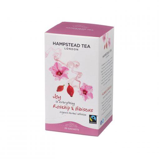 Hampstead Tea Organic Rosehip Hibiscus Wurzelsepp 7288