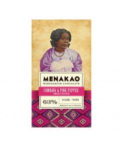 Menakao Dunkle Schokolade mit Combava & rosa Pfeffer Wurzelsepp 5745