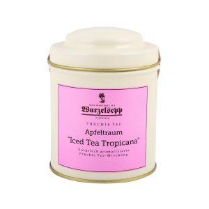 Wurzelsepp Fruechte Tee Apfeltraum Iced Tea Tropicana Dose