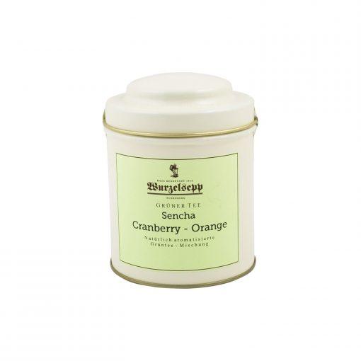 Wurzelsepp Gruener Tee Sencha Cranyberry Orange Dose