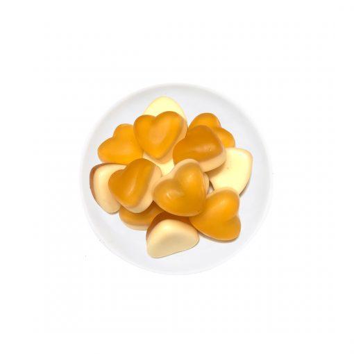 Wurzelsepp-Suesses-Gummibaerchen-Ingwer-Herzen-auf-Mangoschaum