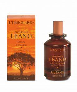 Accordo di Ebano Aftershave Lotion mit feinen Duftnoten von Grapefruit, Mandarine, Ebenholz und schwarzem Pfeffer