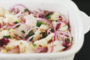 Ceviche peruanischer Fischsalat Rezept